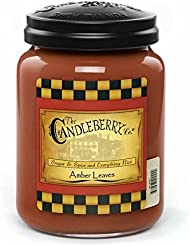 Amber Leaves 26オンスLarge Jar Candleberry Candle