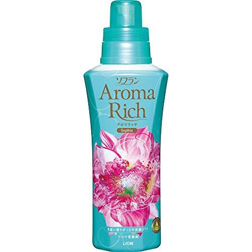 『ソフラン アロマリッチ 柔軟剤 ソフィア (フェミニンフローラルアロマの香り) 本体 600ml』のトップ画像