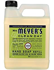 Mrs. Meyers Liquid Hand Soap Refill Lemon Verbena 33 Ounces (Pack of 2)