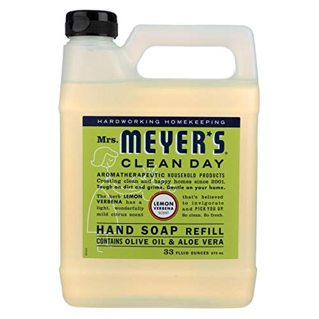 一貫性のない理由オークMrs. Meyers Liquid Hand Soap Refill Lemon Verbena 33 Ounces (Pack of 2)