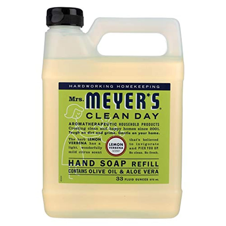 鋸歯状喜び脅迫Mrs. Meyers Liquid Hand Soap Refill Lemon Verbena 33 Ounces (Pack of 2)