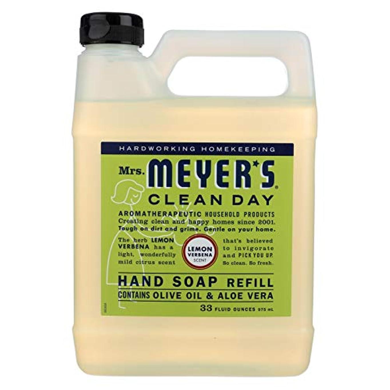 不合格霜小石Mrs. Meyers Liquid Hand Soap Refill Lemon Verbena 33 Ounces (Pack of 2)