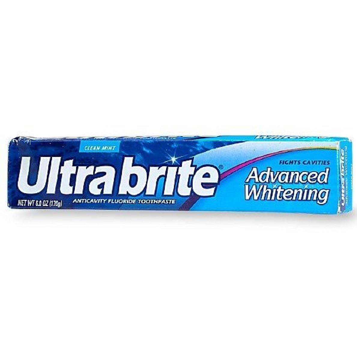 褐色電池悲劇的な海外直送品Colgate Colgate Ultra Brite Advanced Whitening Fluoride Toothpaste, 6 oz (Pack of 3)