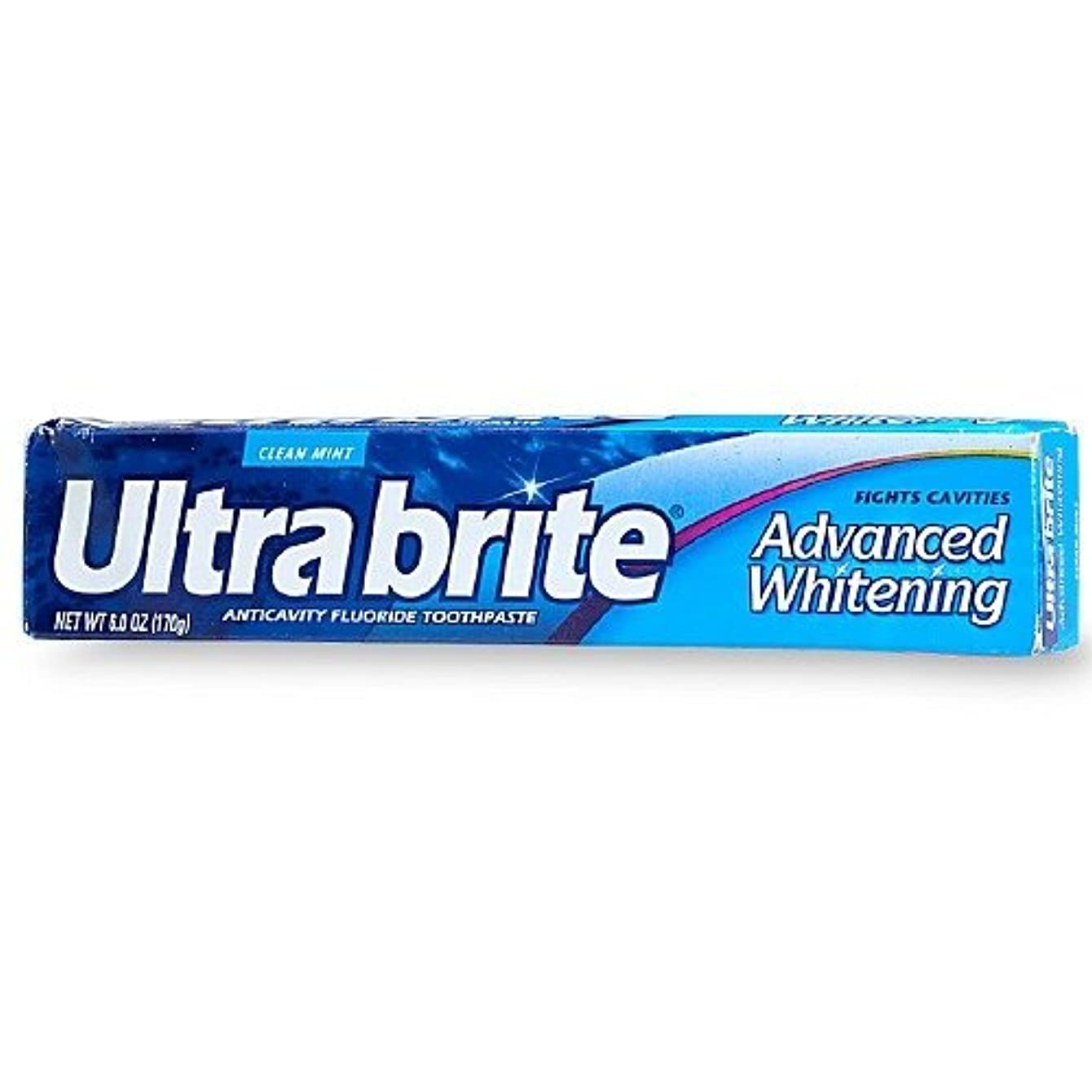 個人的な取り戻す弾性海外直送品Colgate Colgate Ultra Brite Advanced Whitening Fluoride Toothpaste, 6 oz (Pack of 3)