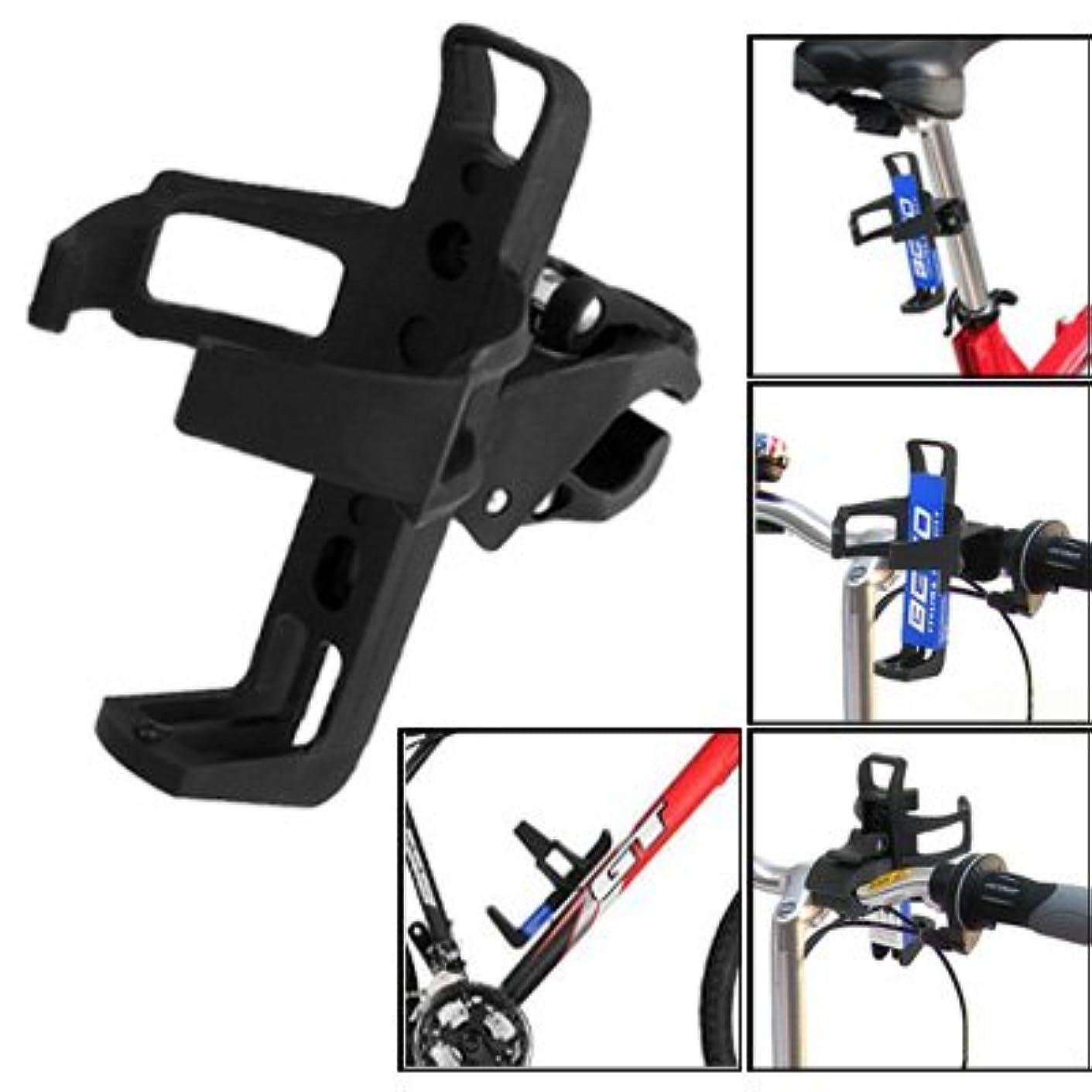 置くためにパック理想的中央WTYDアウトドアツール 回転可能なユニバーサルプラスチックポータブル飲料カップ水ボトルケージホルダーボトルキャリアブラケットスタンドバイク、ランダムカラーデリバリー 自転車の部品