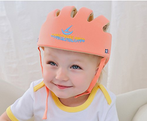 CREDIBLE ベビー・幼児 用 可愛い 洗える スポンジ ヘルメット 綿100% CREDIBLE®オリジナルバッグ付 (オレンジ)