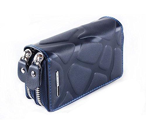 キーケース 財布 コインケース キーホルダー カード 小銭入れ 全5色 メンズ レディース(ブルー)