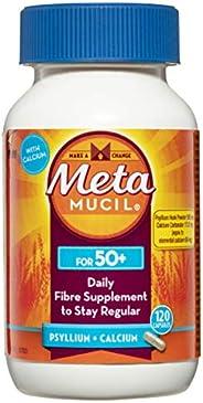 Metamucil Daily Fibre Supplement Capsules for 50+ 120 Pack