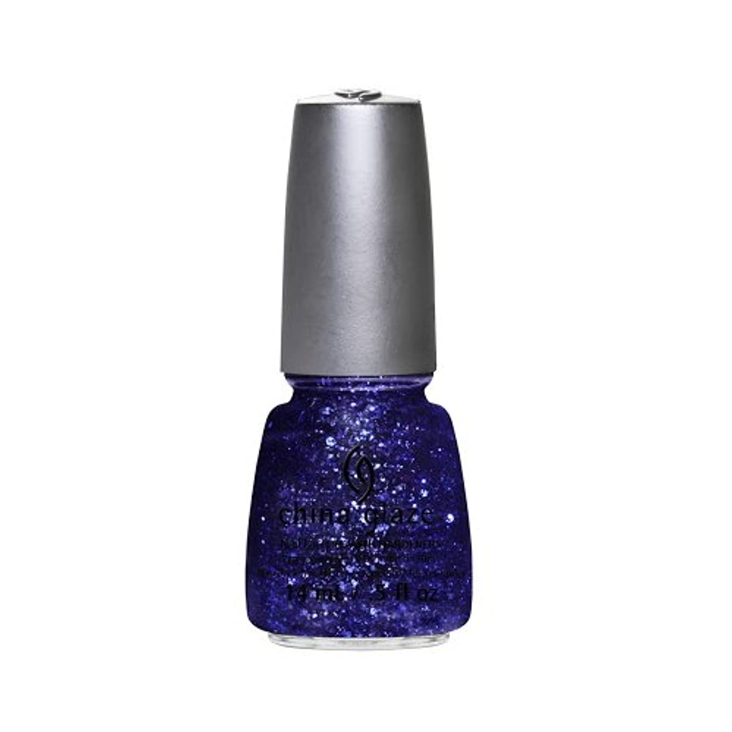 スクレーパー原油私たちの(6 Pack) CHINA GLAZE Nail Lacquer - Glitz Bitz ?n Pieces Collection - Bling It On (並行輸入品)