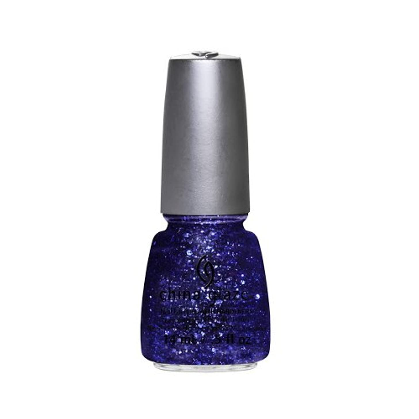 ファブリック来てみなす(3 Pack) CHINA GLAZE Nail Lacquer - Glitz Bitz ?n Pieces Collection - Bling It On (並行輸入品)