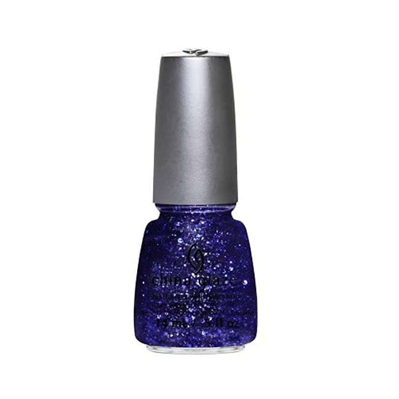 素晴らしき大混乱変更(6 Pack) CHINA GLAZE Nail Lacquer - Glitz Bitz ?n Pieces Collection - Bling It On (並行輸入品)