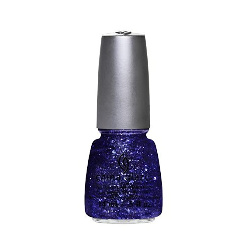 キャプテンブライ集まる単調な(6 Pack) CHINA GLAZE Nail Lacquer - Glitz Bitz ?n Pieces Collection - Bling It On (並行輸入品)