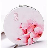 HuaQingPiJu-JP ミニ折り畳み漫画ラブ桜の模様の鏡工芸装飾化粧品アクセサリー