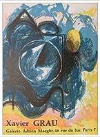 ポスター ハビエル グラウ Bleue 額装品 アルミ製ハイグレードフレーム(ホワイト)