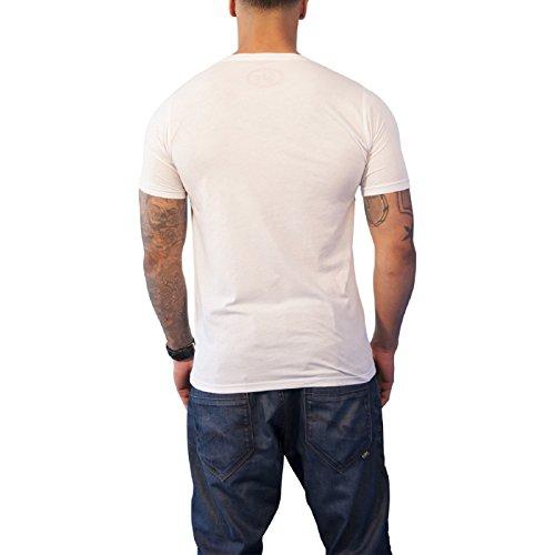 Evel Knievel Stars Collar logo エベル・ナイベル・スターズ・カラー 公式 メンズ スリムフィット Tシャツ
