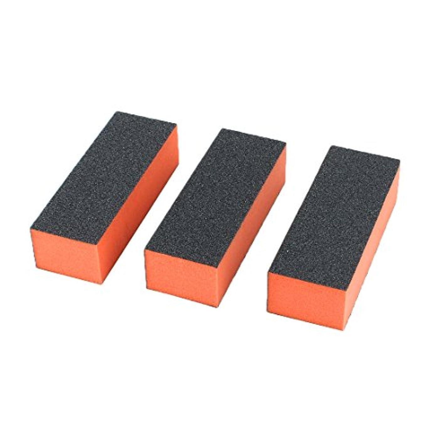 ベース冷ややかなバッグuxcell ネイルファイルブロック マニキュア アクリル ネイルアート バフ研磨 サンディング レディ用 3ウェイ 3個入り