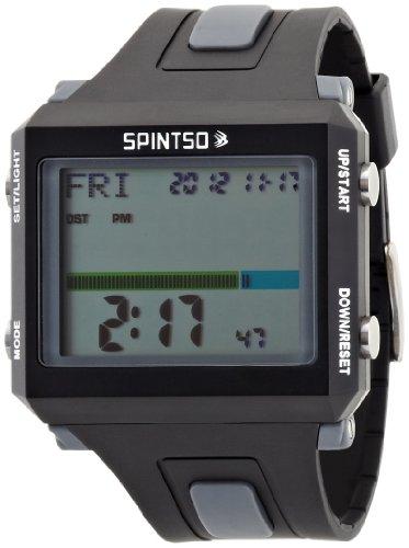[スピンツォ]SPINTSO レフリーウォッチ デジタル表示 バイブレーション振動機能 グレー SPT100-GR メンズ 【正規輸入品】