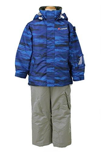 [해외] AIR WALK(에어 워크)어린이용 키즈 토들러 스키 웨어 투피스 상하 세트☆BLU AWT-5556 블루- (SIZE:100)