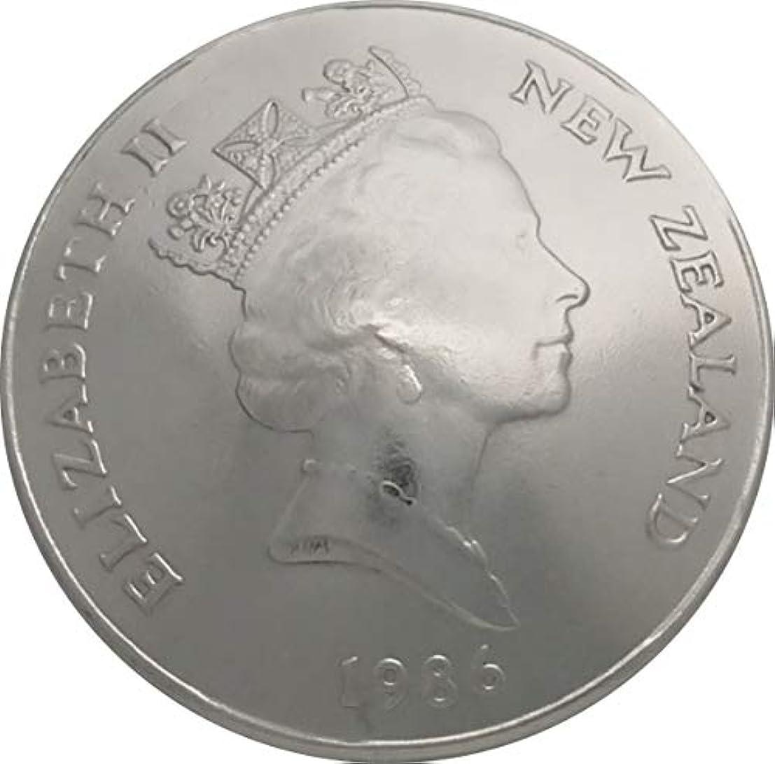 クレアマイクロ変化するコンチョ ニュージーランド 50セント 白銅貨 1986年 (昭和61年)エリザベス二世 NR-2A ネジ式 1個