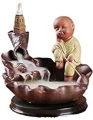 XPPXPP Backflow Incense Burner, Household Ceramic Returning Cone-shaped Candlestick Burner