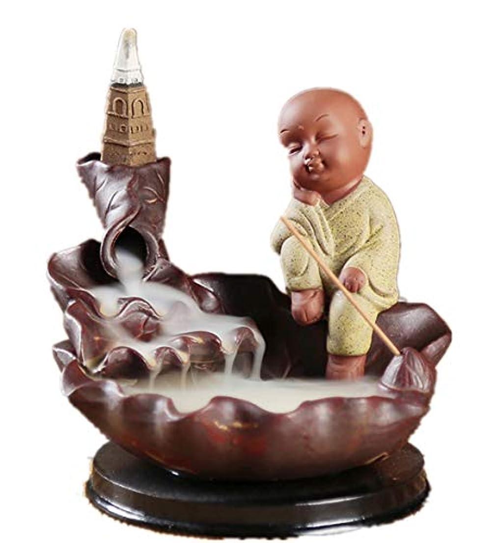 中止します同封する遠近法XPPXPP Backflow Incense Burner, Household Ceramic Returning Cone-shaped Candlestick Burner