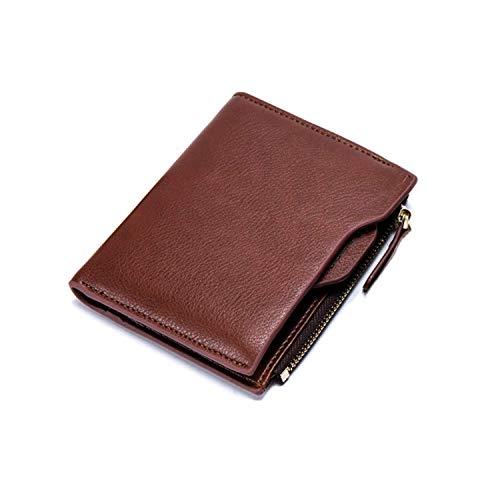 windss 財布 メンズ 二つ折り ウォレット PUレザー 小銭入れ カード入れ 免許証入れ スキミング対策 大容量 コンパクト(ブラウン)