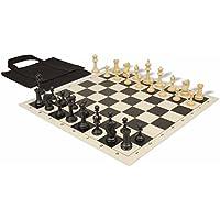 マスターシリーズ持ち運び簡単チェスセットパッケージブラック&タンPieces – ブラック