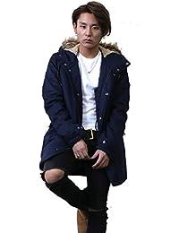 モッズコート メンズ ロング コート ミリタリー ファー付き 大きいサイズ 2018