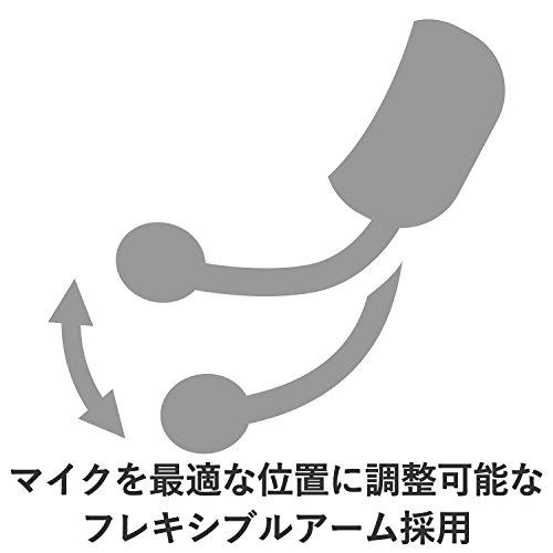 『エレコム ヘッドセット マイク USB 両耳 オーバーヘッド 1.8m シルバー HS-FBE01USV』の5枚目の画像
