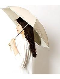 ミラ?ショーン(雑貨)(mila schon) 【折りたたみ日傘 3段折】【遮光&UV遮蔽率99%以上/遮熱】花&スカラップ刺繍 晴雨兼用