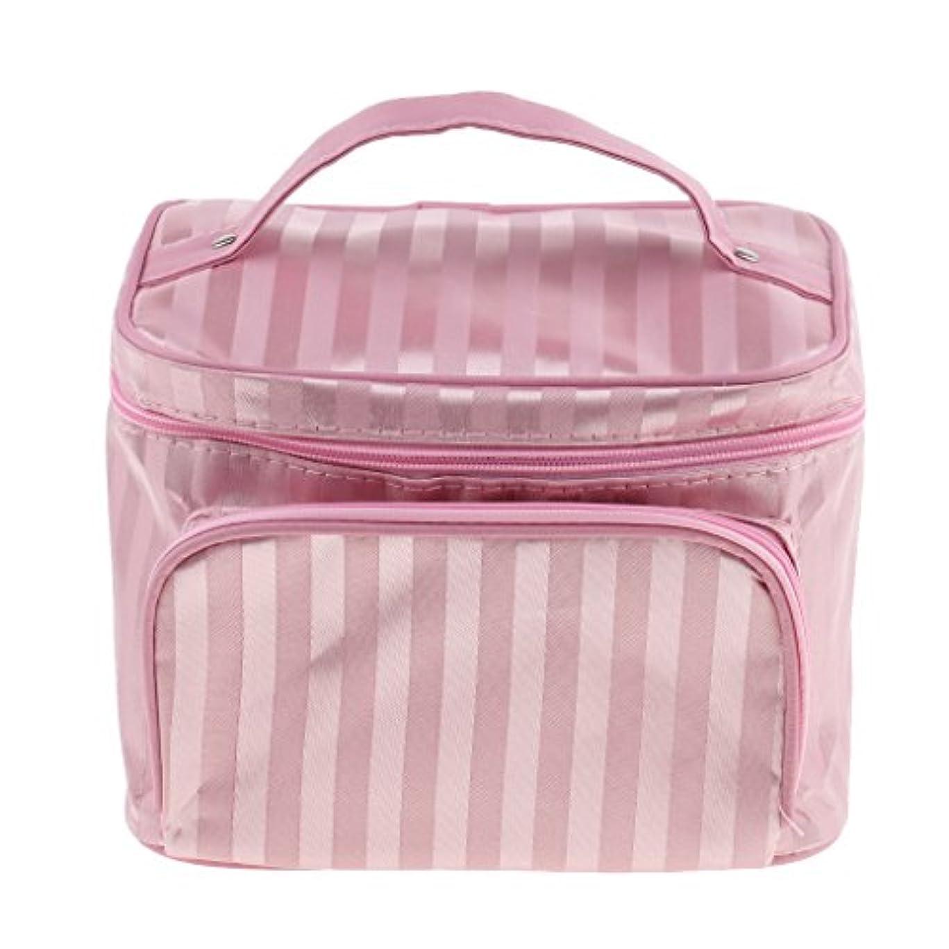 友だち疎外するまたはどちらかPerfk メイクアップバッグ 化粧品バッグ 化粧品 コスメ メイクアップ 収納 防水 耐摩耗 旅行用 バッグ メイクボックス 化粧ポーチ 5色選べる - ピンク