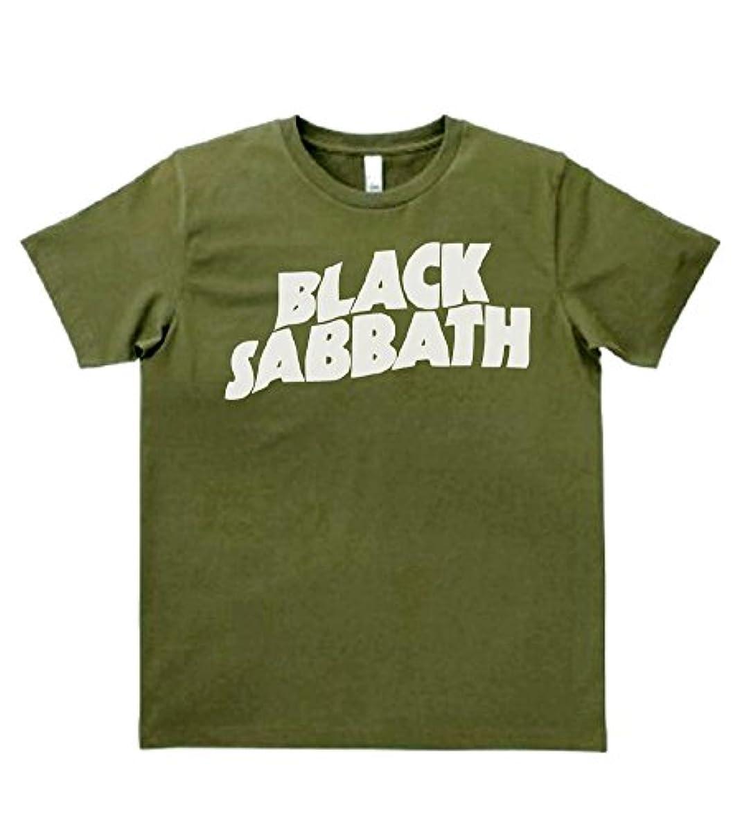 学校タヒチ服を片付ける【ノーブランド品】 音楽 バンド ロック BLACK SABBATH ブラックサバス カーキー MLサイズ