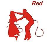 ノーブランド 赤 Dancing Devils 華麗なターンをキメる悪魔のシルエット Shall We Dance