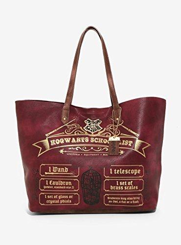 ハリーポッター ホグワーツ スクール・リスト トートバッグ カバン Harry Potter Hogwarts School List Tote [並行輸入品]