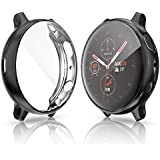 Screen Protector Case Compatible with Samsung Galaxy Watch Active 2 44mm Cover, All-Around Protective Cover Soft TPU Bumper Frame Accessories (Active 2 44mm, Black)