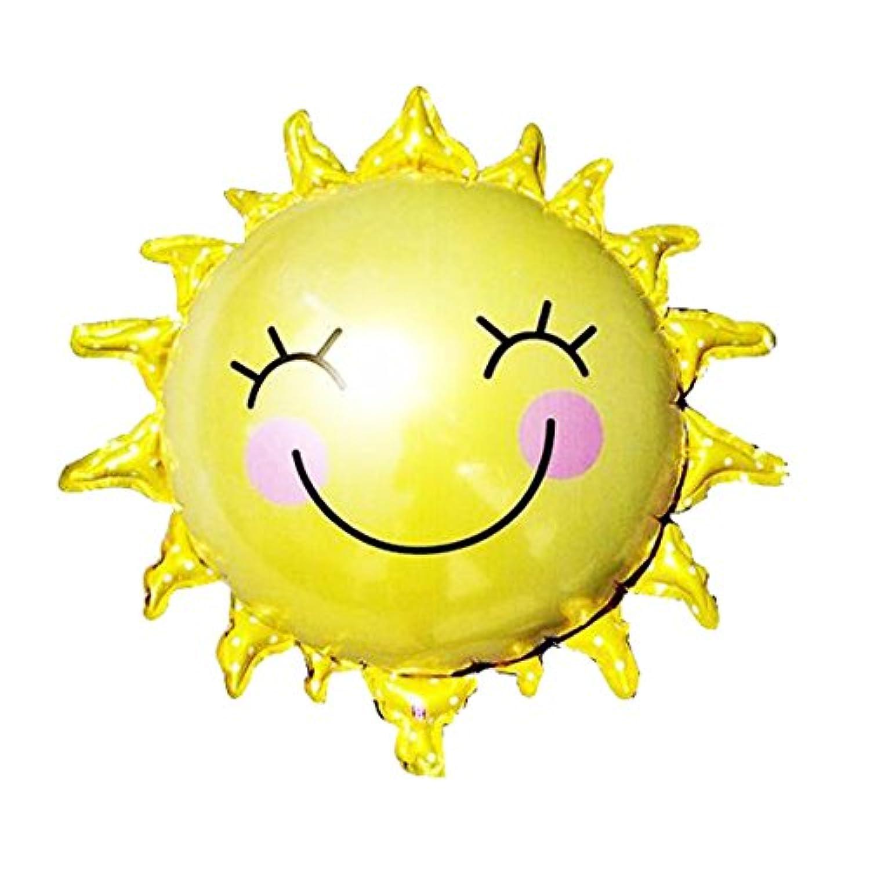 1pcs 子供 誕生日 パーティー 装飾 漫画 笑顔 太陽 フラワー バルーン