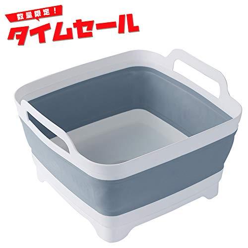 折り畳める洗い桶 RMITO ソフトタブ シリコン製バケツ ...