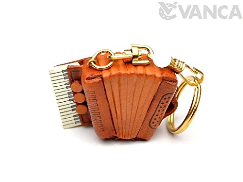 VANCA CRAFT 革物語 アコーデオン 本革製 立体キーホルダー (日本製 ハンドメイド)