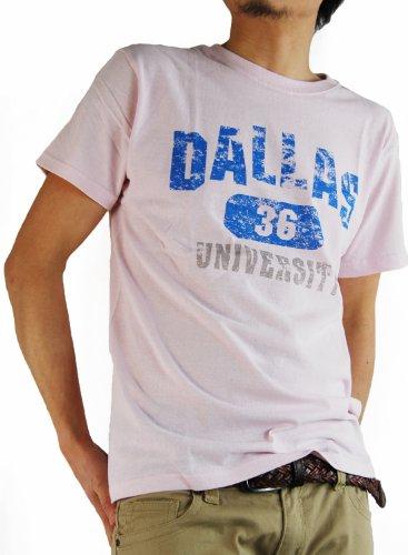 ARCADE(アーケード) 25color アメカジ ロゴプリント Tシャツ メンズ B柄ピンク M