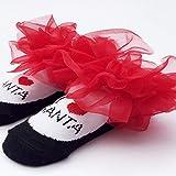 Blackfell 快適なベビーソックス新しい生まれクリスマススタイルフルコットンレースソックス幼児の女の子のための最高の誕生日プレゼント
