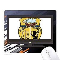 チュニジアのアジアの国家エンブレム ノンスリップラバーマウスパッドはコンピュータゲームのオフィス