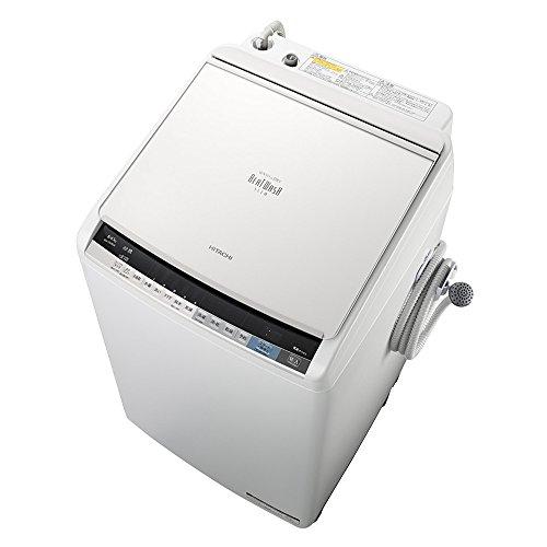 日立 タテ型洗濯乾燥機 ビートウォッシュ 8kg ホワイト B...