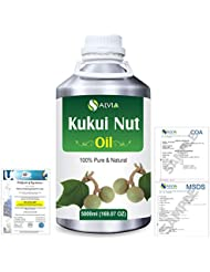 Kukui Nut (Aleurites Moluccans) Natural Pure Undiluted Uncut Carrier Oil 5000ml/169 fl.oz.