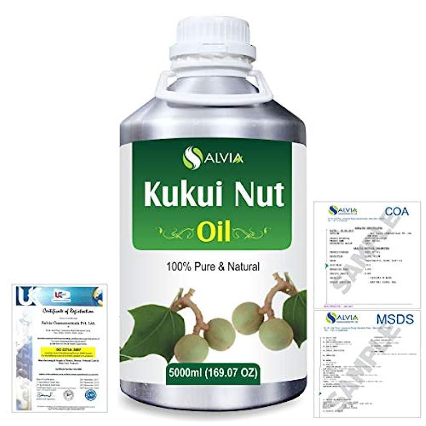 オーバーヘッド水素不合格Kukui Nut (Aleurites Moluccans) Natural Pure Undiluted Uncut Carrier Oil 5000ml/169 fl.oz.