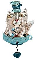 "Allen Designs""TeaCat"" Whimsical Cat Pendulum Wall Clock P1754 アレンデザイン 掛け時計 「ティーキャット」 [並行輸入品]"