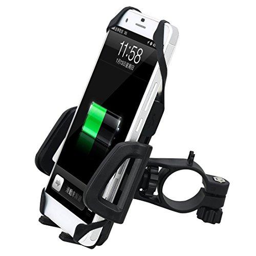 SUNVIC バイク用 スマホホルダー USB電源 360度回転可能 オートバイ スマートフォン スタンド 携帯固定用 落下防止 GPSナビホルダー ハンドルに取付 3.5~6インチ対応 Android iPhoneの様々な機種対応