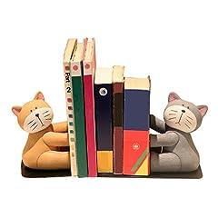 Eastyle 本立て ブックエンド ブックスタンド かわいい ねこ 猫 2個1セット 樹脂