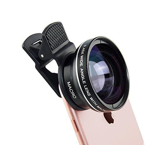 VENSMILE スマホ カメラレンズ 2IN1クリップ式 2点セット