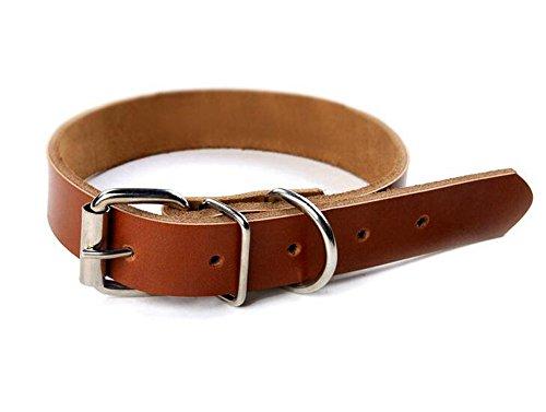 ふく福 ペット 犬用 調節 ベーシック首輪 小型 中型 犬 ヘッドカラー ペット用品 レザー 5穴 安心 安全 散歩 (L, コーヒー)