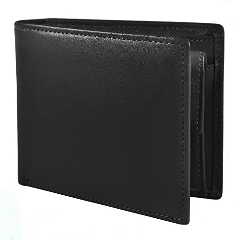 ビットコンパス水分SKAWA RENON 二つ折り財布 財布 メンズ 本革 レザー 小銭入れ カード収納 化粧箱入り ビジネス 高品質 プレゼント